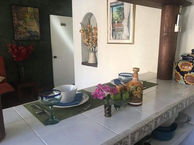 Photo for Private Casita, 1BR, A/C, 1 Block to the Best Beach in Zihuatanejo