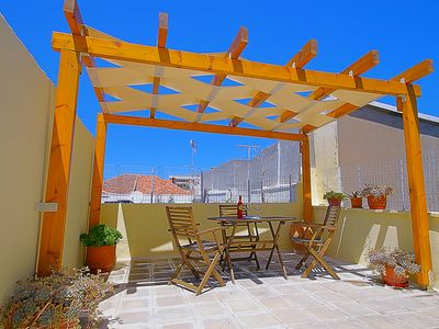 Photo for Terraced, Bright and Spacious Two-Storey Home in the Heart of Rethymno, Crete