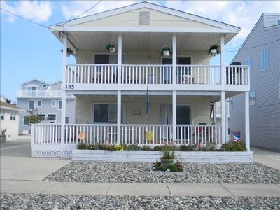 Photo for PET FRIENDLY, FAMILY HOME ON QUIET STREET, ONE BLOCK TO BEACH,