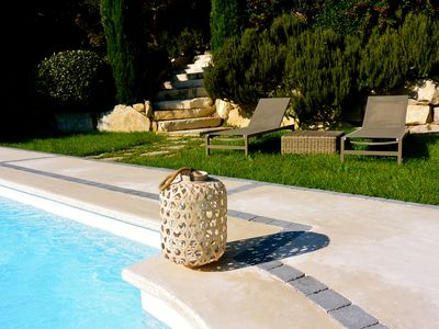 Photo for Charming cottage near Avignon rental with pool in Villeneuve-lès-Avignon