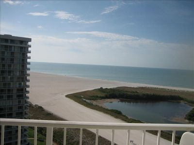 View from balcony overlooking Gulf of Mexico