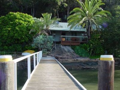 Photo for MARRA RETREAT . Arrive By Boat . HAWKESBURY RIVER . Waterfront In Secluded Bay