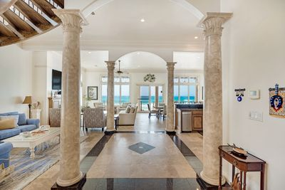 The Stunning Foyer Greats You with A Stunning Gulf View