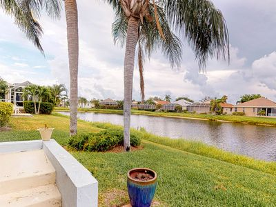 Photo for Perico Island beach house w/waterfront view, gated club house & tennis court