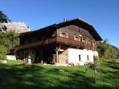 Photo for Chalet for rent, 12 people, Mont-Blanc, Cordon, farmhouse, peaceful, views!