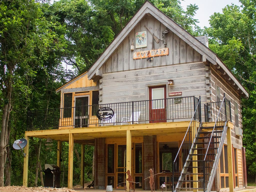 an front old the side ozark stock photo built cabin in cabins mountains of