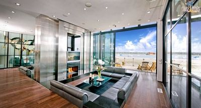View from the Living Area Sleek Retreat Mission Bay Vacation House Rental
