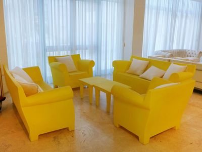 Photo for Cosy apartment for 4 people with WIFI, pool, A/C, TV, pets allowed and parking