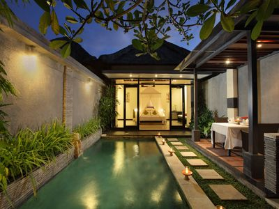 Photo for 1 Bedroom Pool villa in  Seminyak, 7 mnts walk to the beach and shopping  area
