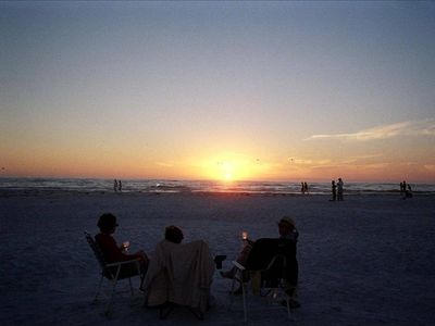 A short drive away and you are there!  Siesta Key sunsets await you......