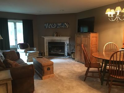 Photo for Mt. Snow - 2 bed 2 bath condo w/ Fireplace!  Plus walking distance to lifts!