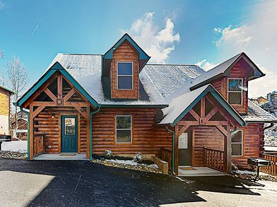 Photo for New Listing! New-Build 2-Unit Cabin w/ 2 Private Hot Tubs - Near Dollywood