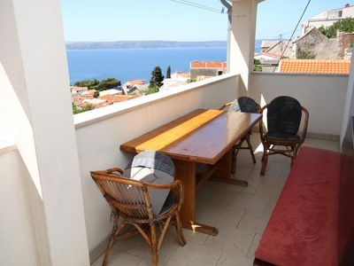 Photo for Three bedroom apartment with terrace and sea view Igrane (Makarska)