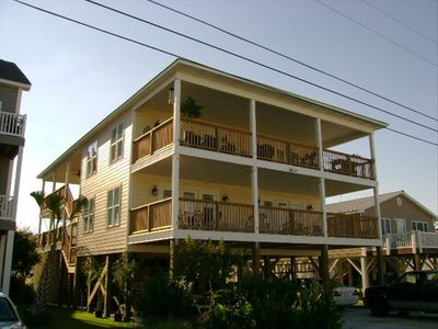 Photo for Join us for family fun in Cherry Grove Beach. One half block to the ocean!