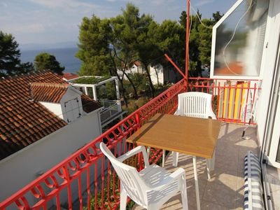 Photo for Studio flat with balcony and sea view Sutivan (Brač)