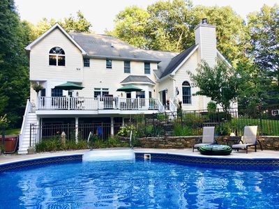 Photo for Spacious 4 Bedroom Family House With Pool ~ 25 Acres Of Forest In The Backyard