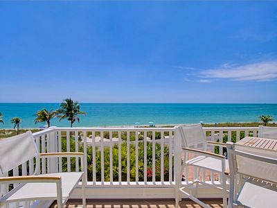 Photo for Beach Villa Sunset Dreams- Gulf Front Luxury Townhome- Captiva Island