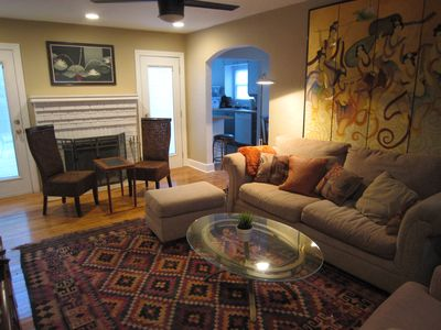 Photo for Stylishly decorated home with big deck, centrally located!