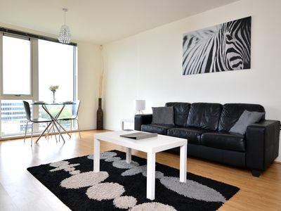 Photo for Modern, stylish city centre apartment - short walk to train station