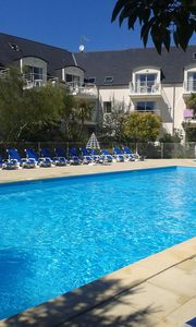 Photo for Apartment T3 Residence with pool 150 m beach Beg-Meil Fouesnant