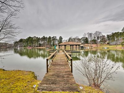 Photo for NEW! Lake Norman Home w/Boat Dock, Deck & Fire Pit