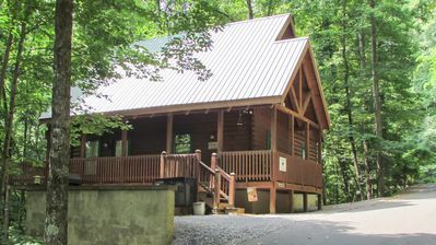 Photo for GREAT VALUE!!! Wildwood Dreams is an enchanting 2 BR, 2 story log cabin just minutes from G'Burg/PF.