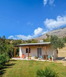 Photo for Holiday house with pool, large garden, idyllic and calm, wifi | Triopetra, Crete