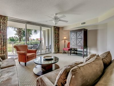 Photo for Waterfront Condo. Huge Pool, Near Barefoot Landing, Golf | Yacht Club Villas - 3-101