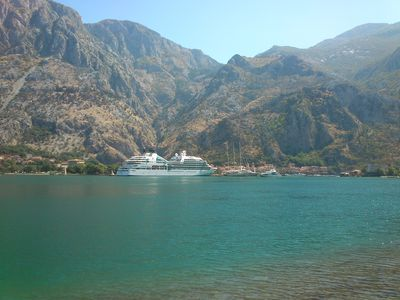 Photo for SUPERB HOUSE-APARTMENT, AT 40M SEA, GIANT VIEW ON THE BAY AND KOTOR OLD TOWN