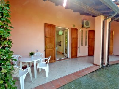 Photo for two-room house with double garden and patio 700 mt. from the sea, spa area