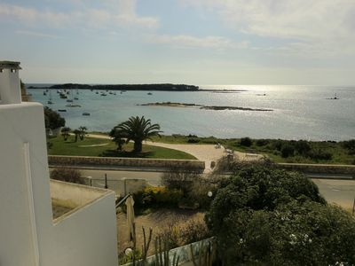 Photo for Porto Cesareo Villa facing the sea, on two floors, with garden and