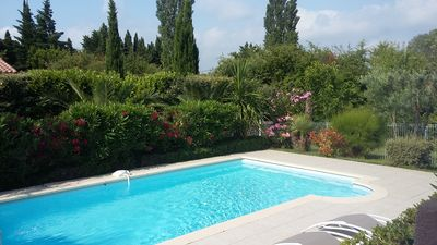 Photo for House of full foot with swimming pool in calm quarter in Orange. wifi and air conditioning