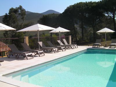 Photo for Appart heated swimming pool, Wifi, air conditioning, TV river 1 min and beach 5 min