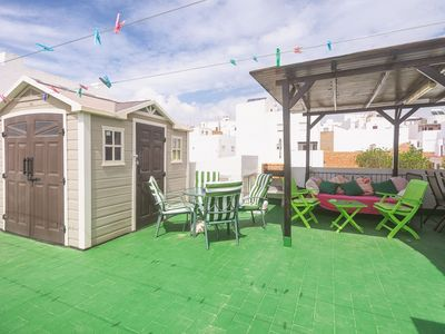 Photo for Barrier-Free Apartment In Central Location Close to Beach with Private Rooftop Terrace, Wi-Fi & Air Conditioning; Pets Allowed