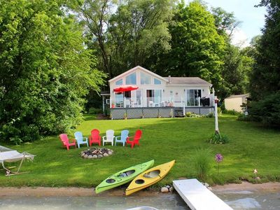 Photo for Waterfront Home on Beautiful All Sports Lake