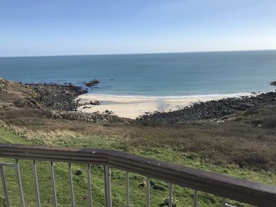 Photo for First floor balcony flat with stunning sea views.