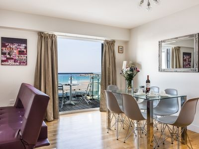 Photo for Ocean 1  Apartment Overlooking Fistral Beach