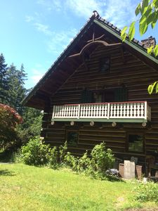 Photo for Beautiful log home on the Olympic peninsula