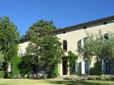 Photo for Beautiful mansion with views of Mont Ventoux and with fenced private pool