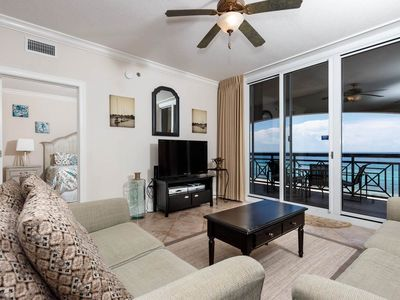 Photo for Gorgeous Gulf Front Condo! Sleeps 8, Pools Onsite, Nearby Activities, Shops, & Restaurants!