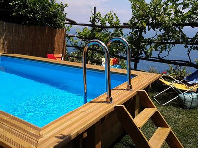 Photo for One bedroom Villa, sleeps 3 in Praiano with Pool, Air Con and WiFi