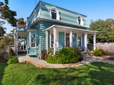 Photo for Iconic, remodeled 19th-century home w/ deck & custom kitchen - steps to beach!