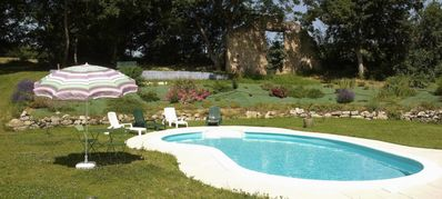 Photo for stone cottage in a farmhouse with swimming pool, many activities nearby