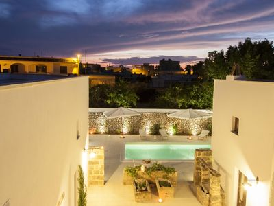 Photo for Luxury Courtyard Faber apartment in Racale with WiFi, shared terrace & shared garden.
