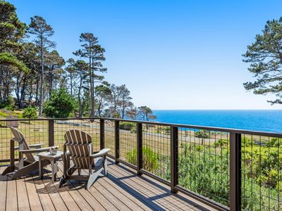 Photo for Beautiful home w/sweeping ocean views, private gas grill & firepit
