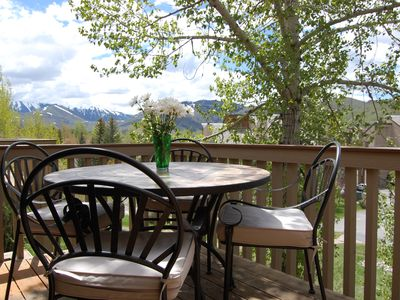 Photo for Beautifully Updated Elkhorn condo with Dollar Moutain views.  2 private decks