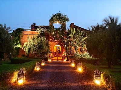 Photo for Villa Outside Marrakech, Morocco, With Overflow Pool And Clay Tennis Court