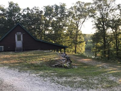 Photo for Pomme de Terre 2 Lakefront Cabins on secluded 300 acres rent 1 or both