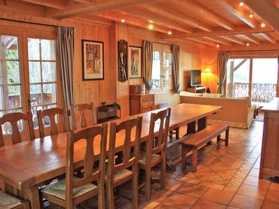Photo for Chalet located at a place called Le Char Rond, 50m from the summer leisure center, 150 m from the ski slopes