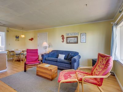 Photo for Dog-friendly cottage w/ beach access & ocean view from living room